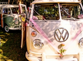 Classic Splitscreen Campervan for weddings in Chichester